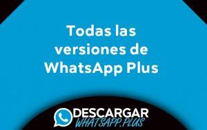 todas las versiones para whatsapp plus