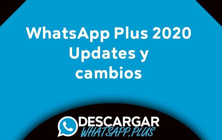 actualizaciones whatsapp plus